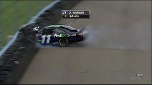 Hamlin With Bad Crash -  Watkins Glen International 2011
