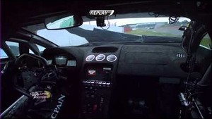 Adrian Newey crashes his Lamborghini Super Trofeo - 2013 Silverstone