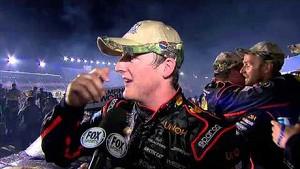 Ty Dillon Emotional Victory Lane   UNOH 225 NASCAR Kentucky