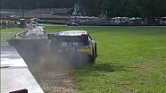 NASCAR Travis Pastrana spins into the wall | Mid-Ohio (2013)