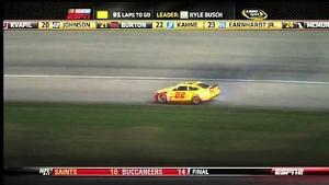NASCAR Chase contender Joey Logano up in smoke | Chicagoland (2013)