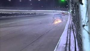 NASCAR Cobb makes contact with the wall | Smith's 350, Las Vegas (2013)