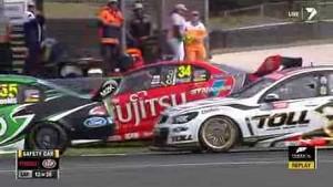 V8 Supercars Phillip Island 2013 Race 1 Huge crash Premat Courtney