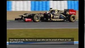 Romain Grosjean après le Grand Prix du Brésil