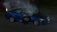 Chevy SS Pace Car catches fire - Sprint Unlimited - 2014 NASCAR Sprint Cup
