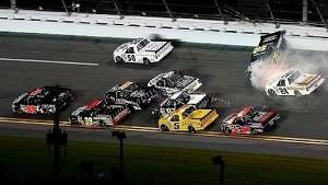 Hard racing causes sparks to fly at Daytona
