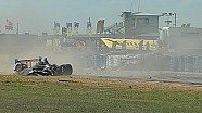 2014 United SportsCar Championship 12 Hours of Sebring, Kearby & Tagliani Big Crash