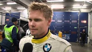 Markus Palttala interviewed at the ADAC Qualifying Race