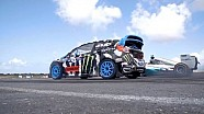 Ken Block vs Lewis Hamilton at the Top Gear Festival Barbados