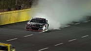 Kurt Busch's Double Ends with Blown Engine - Charlotte - 2014 NASCAR Sprint Cup