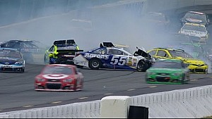 Multiple cars pile up after restart