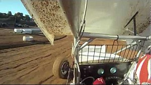 Onboard View of a Winged Sprint Car