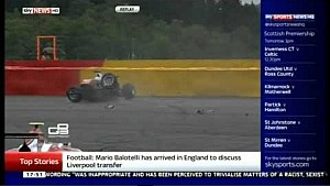 GP3 Belgium (Spa) 2014 - Konstantin Tereshchenko Horror Crash