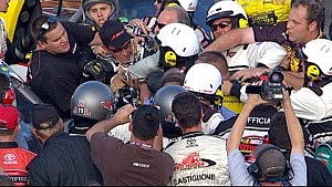 Huge brawl following NASCAR Truck race - 2008 NHMS