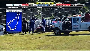 Yacaman crashes after contact with DeltaWing  - 2014 Petit Le Mans
