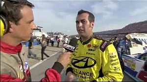 Danica Patrick vs Sam Hornish Jr. 2012 NASCAR Nationwide Talladega