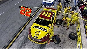 Pit road trouble for Logano