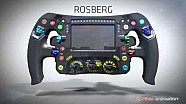 F1 Steering Wheels - Lewis Hamilton vs Nico Rosberg - Analysis