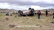 Matt Campbell and teammate Luis Ramirez crash heavily at the Dakar