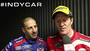 Tony Kanaan and Scott Dixon Post Rolex 24 Victory