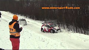 Rally Sweden - Big jump and crash