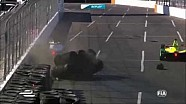Formule E 2015 - Crash de Jean-Éric Vergne à Long Beach