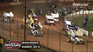 Highlights: World of Outlaws Sprint Cars Lincoln Speedway May 13th, 2015