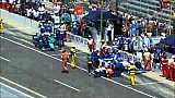 All three Coyne cars collide on pit road, strike crew members
