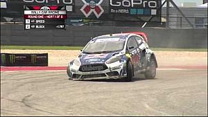 Joni Wiman rallies off-course in heat 1 of X Games Rally Car - ESPN