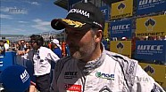 Yvan Muller wins race 1 in Moscow