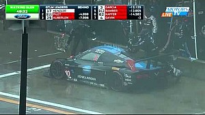 Prototype leaders crash in wet conditions