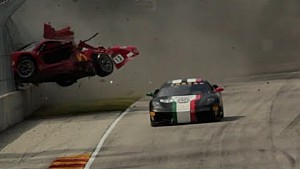 CCR Ferrari Challenge crash at Road America 2015
