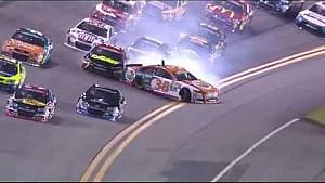 Gilliland initiates multi-car crash early at Daytona