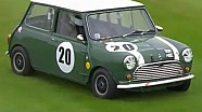 Mini Cooper takes detour on grass
