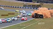 Huge crash of Pedro Piquet at the Porsche GT3 Cup race in Goiânia