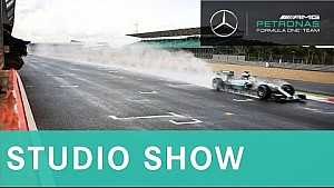 F1 filming at Silverstone, exclusive access to Mercedes factory + Russian GP 2015   Studio Show