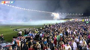 Rouge firework lands on Austin Dillon's car