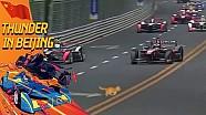 ePrix de Pékin - Un chat traverse la piste en pleine course!