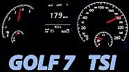 VW GOLF 7 Acceleration 0-100 Autobahn Vmax Beschleunigung 1.2 TSI Test Volkswagen
