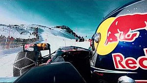 F1 driver vs. Skier - Red Bull Racing Show Run 2016 Austria