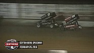 Highlights: World of Outlaws Craftsman Sprint Cars Cotton Bowl Speedway February 26th, 2016
