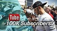 100,000 subscribers! Lewis Hamilton thanks YOU!