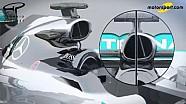 Giorgio Piola: Mercedes W06 und W07