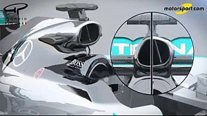 Giorgio Piola - Comparing the Mercedes W06 & W07