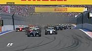 Le départ mouvementé du Grand Prix de Russie