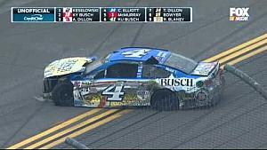 NASCAR Sprint Cup Talladega: huge crash on the final lap and finish