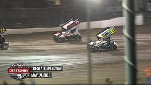 World of Outlaws Craftsman Sprint Cars Tri-State Speedway May 14th, 2016 | HIGHLIGHTS
