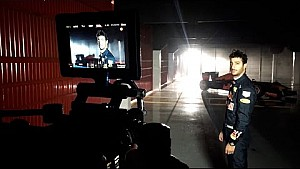 Behind the scenes at Red Bull filming day with Ricciardo