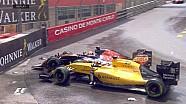 GP de Monaco - Touchette entre Magnussen et Kvyat