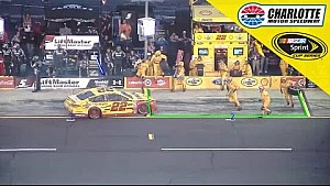 Pit-road penalty bites Logano during green-flag stops